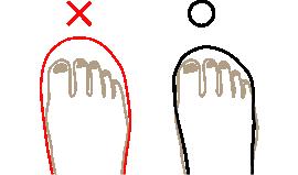 Chochotteの靴のサイズの選び方