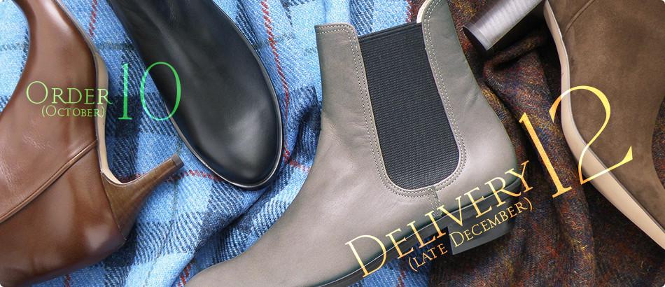 <p>足元の、冬の支度はChochotteのブーツで。</p>